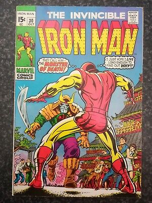 The Invincible Iron Man  #30. October 1970 ( Marvel)