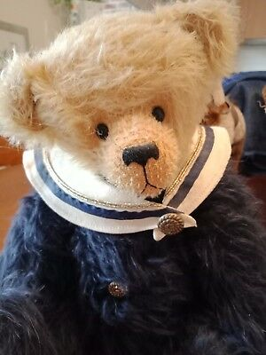 SEBASTIAN one of a kind MOHAIR ARTIST BEAR BY LEANNE TRIGGS OF LAURALLA BEARS