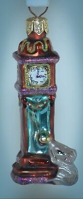Christopher Radko LITTLE GEMS Ornament HICKORY DICKORY DOCK 99-950-0 with box