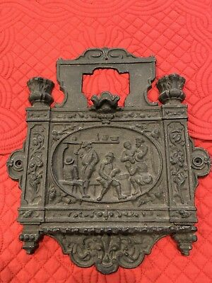 Old Cast Iron Architectural Hardware Decorative Art Grate Cover Plate