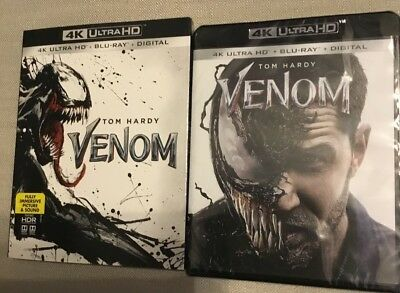 Venom (4K Ultra HD + Blu-ray + Digital, 2018) New Factory Sealed with Slipcover