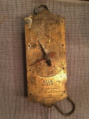 Antique Chatillon Improved Circular Spring Balance 30lb. Milk Scale c1800s
