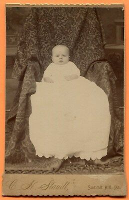 Summit Hill, PA, Portrait of a Baby, by Staudt, circa 1880s Backstamp