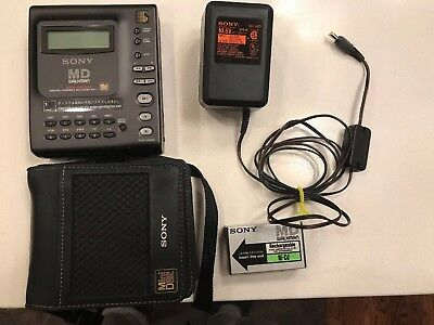 Rare Sony MZ-1 Portable MiniDisc Walkman Recorder- Tested With Accessories