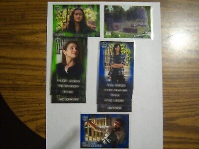 2018 WALKING DEAD HUNTERS AND HUNTED LOT 12 PARALLEL  6 GREEN #d/25  6 BLUE#d/50