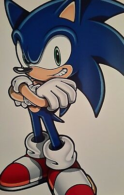 Sonic The Hedgehog Classic Stand A4 Poster Picture Print A4 Wall Art Kids