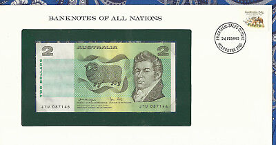 *Banknotes of All Nations Australia 2 Dollars 1979 P43c AUNC Knight/Stone JTU*