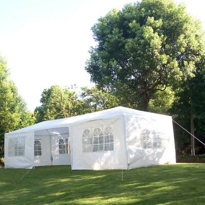 10'x30' Canopy Party Wedding Tent Outdoor Gazebo Pavilion /w Removable Side Wall