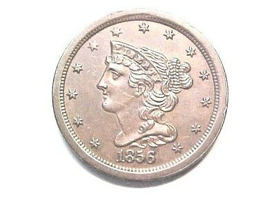 •1856 Half Cent..Uncirculated..Gem MS..High Quality 1/2 Cent..No Reerve Auction•