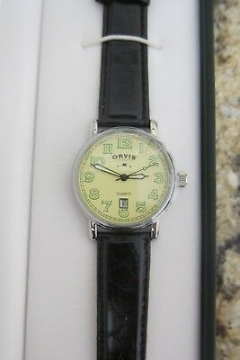 WW1 Style Orvis Watch with Leather Band