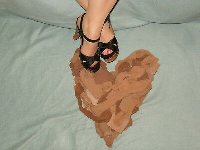 25 PAIRS OF PRE OWNED USED WORN KNEE HIGH NYLONS STOCKINGS for crafts etc