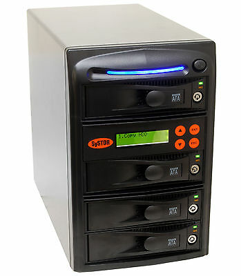 "SySTOR 1:3 SATA 3.5"" Hard Disk Drive HDD/SSD Duplicator Cloner Sanitize-300MB/s"