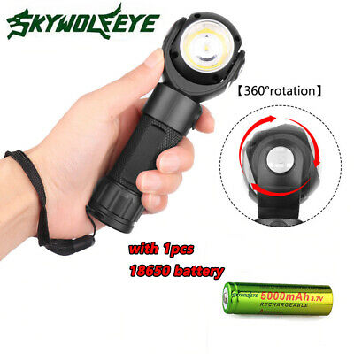 Underwater 150m Scuba Diving Flashlight LED 90000 LM Dive Torch 18650/AAA Newest