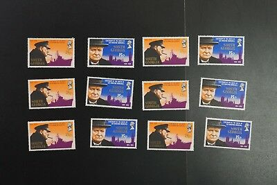 South Georgia #39-40 1974 Churchill set VF MNH x 6 sets 2017 cv$19.50 (k120)