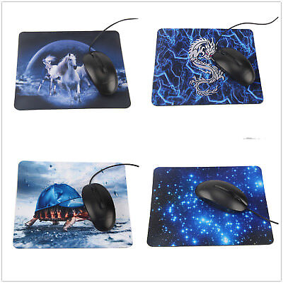 Blue Gaming Laptop Computer Mice Pad Mat Mousepad For Optical Laser Mouse