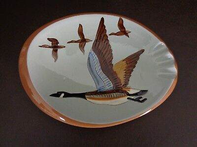 """Vintage Stangl Pottery Ashtray """"Canada Goose"""" (Cat.#14B006)"""