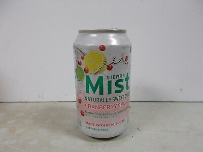 2013 Sierra Mist Naturally Sweetened Cranberry Splash soda can.