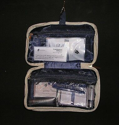 Vintage Continental Airlines Business Travel Amenity Bag Kit w/ Unopened Items