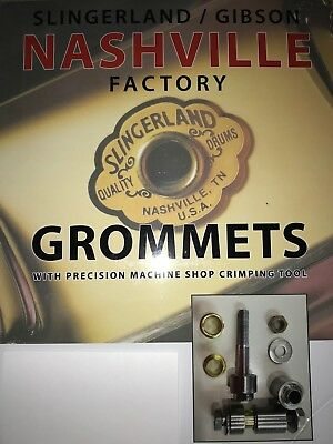 Slingerland / Gibson Nashville / Conway Factory grommets and custom crimp tool