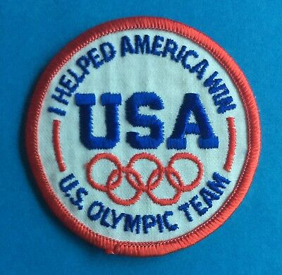 4baf7e98a8c Rare 1980 s Olympic Games U.S. Olympic Team Hat Hipster Jacket Patch Crest B