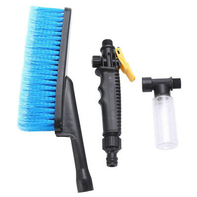 Blue Car Wash Brush Water Spray Cleaning ToolS Soft Bristle Switch Foam hot