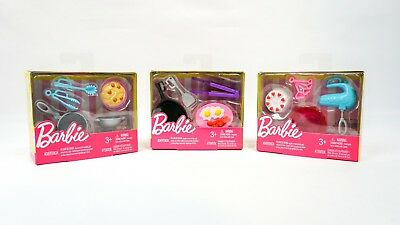 Barbie Doll Kitchen Accessory Packs Lot Of 3