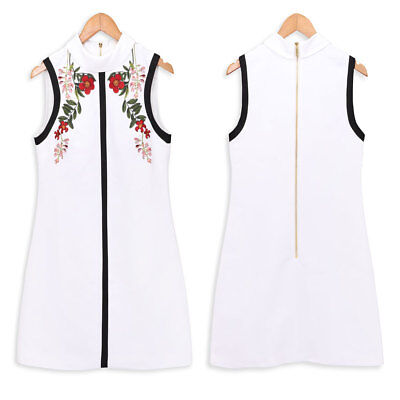 838b7840301 New Ted Baker Embroidered AIMMIID Kirstenboch high neck tunic dress Ivory