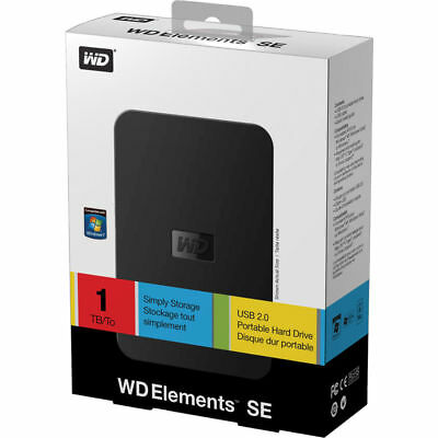 Western Digital WD Elements SE 1 TB USB 2.0 Portable External Hard Drive