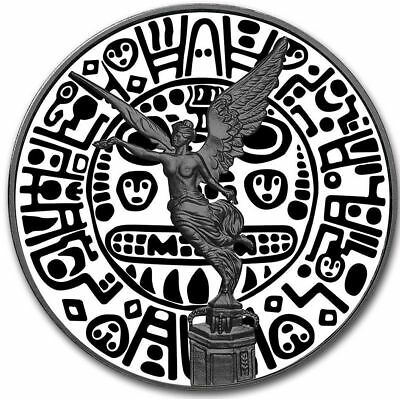 2018 Inca Mask Mexico Libertad 1 oz Silver Coin - Colorized Black Ruthenium .999