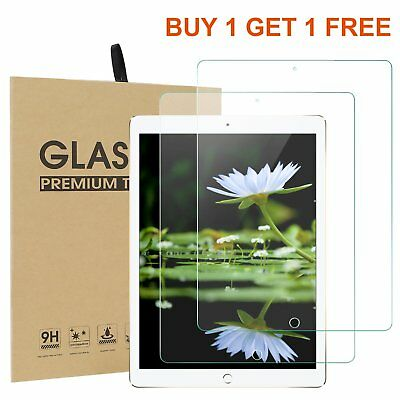 100% New TEMPERED GLASS Screen Protector Cover for New Apple iPad 9.7 (2017)