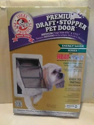 "Premium Draft Stopper Frame Pet Door Flap by Ideal pet products Medium 6"" x 11"""