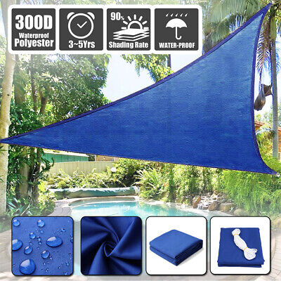 300D Sun Shade Sail Outdoor Garden Waterproof Canopy Patio Cover 98% UV Block