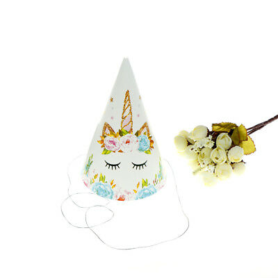 6pcs Theme Paper Caps Birthday Hats for Kids Birthday Party Deco CP