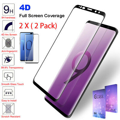 For Samsung Galaxy S10 S9 S8 Note 8 9 Full Cover Tempered Glass Screen Protector