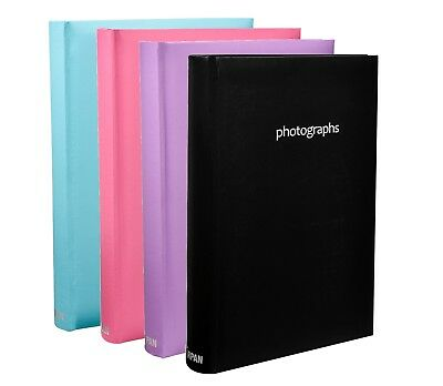 Large Memo Slip In Photo Album 300 6 x 4 Photos, Black, Blue, Pink, Purple