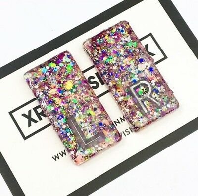 Pair of Glitter X-ray Markers. Up to 3 initials/letters.