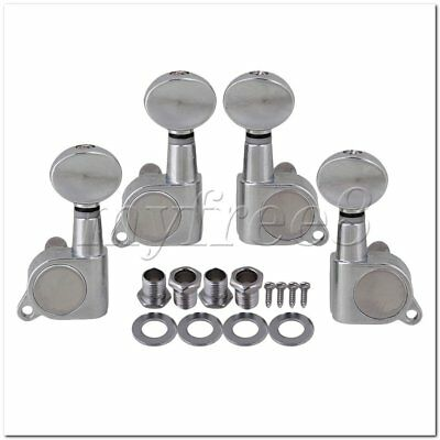 4Pieces Ukulele 2R2L Tuner Chrome Machine Heads with Screws Tunning Pegs