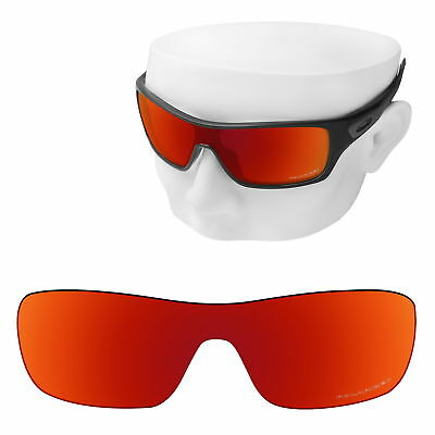 b5cf325f66 OOWLIT Replacement Sunglasses Lenses for-Oakley Turbine Rotor POLARIZED -Red