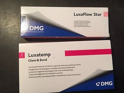 Lixa Flow STAR DMG Composite + Luxatemp Glaze & Bond Dental Zahnarzt Karies