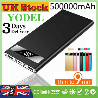 Portable Power Bank 500000mAh LED Battery 2USB Charger for Mobile Phone & Tablet