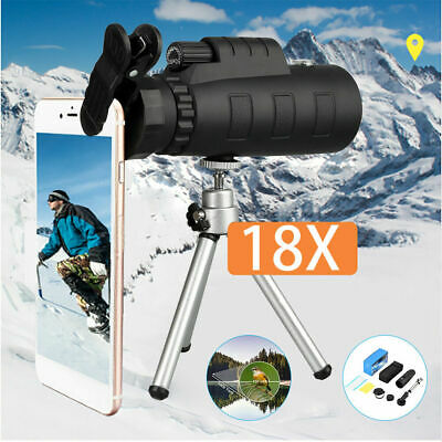 50X60 Portable Compact Monocular Zoom Night Vision Telescope Camping Hunting UK