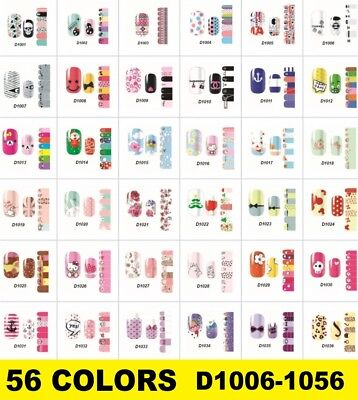 Lovely Art Decals Nail Wraps Stickers Self-Adhesive Polish Foils Decorations New