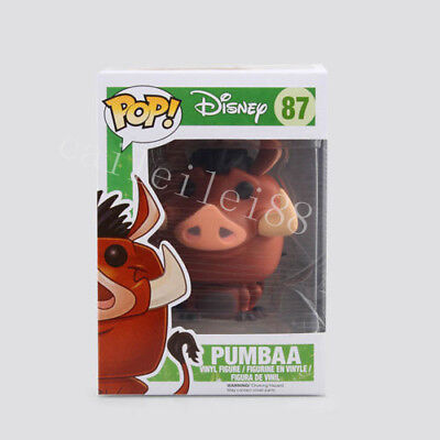 New Kids Disney Movie The Lion King Toys Pumbaa #87 Funko POP PVC Figure Gift