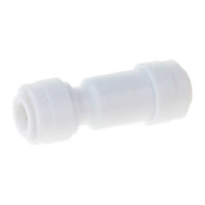 Mini White Plastic Quick Fitting Straight Inline Check Valve for Ro System