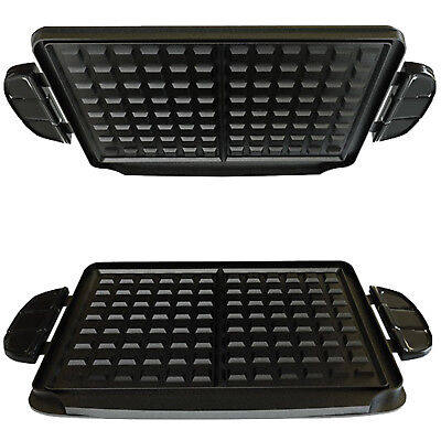 GEORGE FOREMAN Evolve Grill System Waffle Plates Non Stick Cool Touch x 2