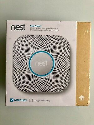 Nest Protect 2nd Generation Smoke and Carbon Monoxide Wired Detector Alarm