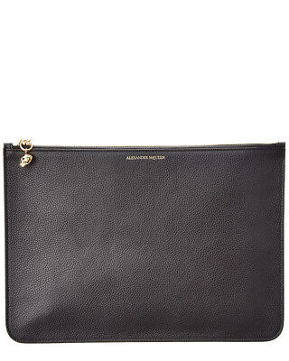 Alexander Mcqueen Womens  Leather Pouch, Black