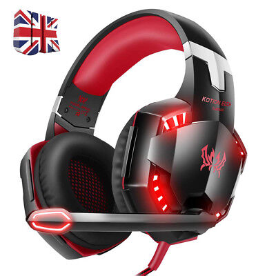 EACH G2000 3.5mm Gaming Headset MIC Stereo LED Headphones for PC Laptop PS4 Xbox