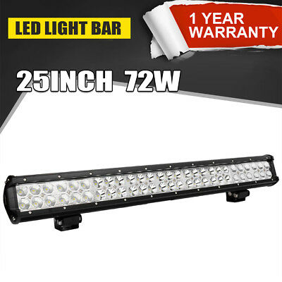 25inch 72W LED Light Bar Work COMBO Beam Fit Truck Chevy Chevy 4WD Car 12V 24V