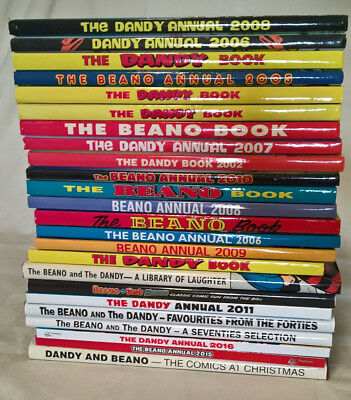 24x Beano and Dandy Official Annuals and Collections Job Lot 1993-2016
